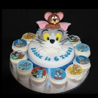 tom and jerry cupcakes